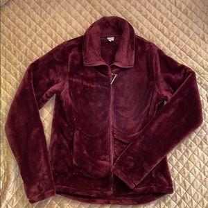 Bench Maroon Fleece Jacket Zip Up